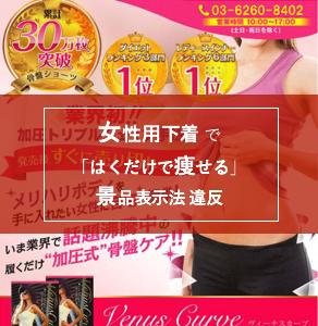 「はくだけで痩せる」女性用下着で 景品表示法 違反 / 2019年9月 景品表示法 違反